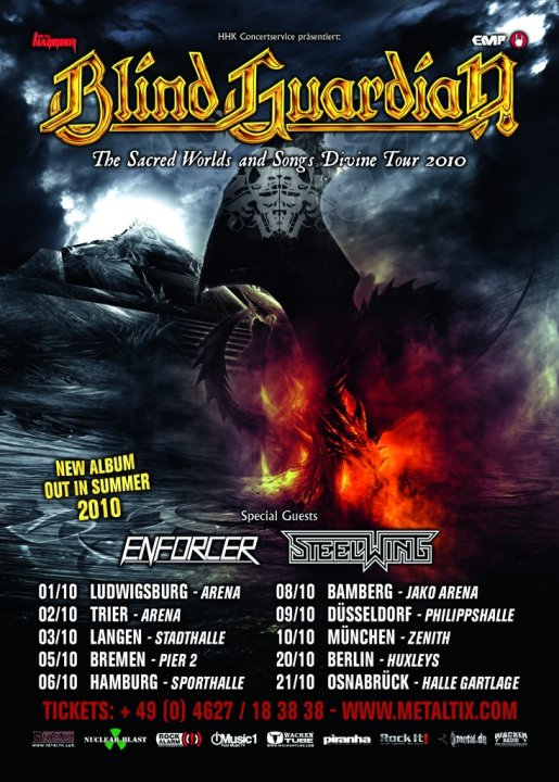 The Sacred Worlds And Songs Divine Tour En Blind Guardian Fr